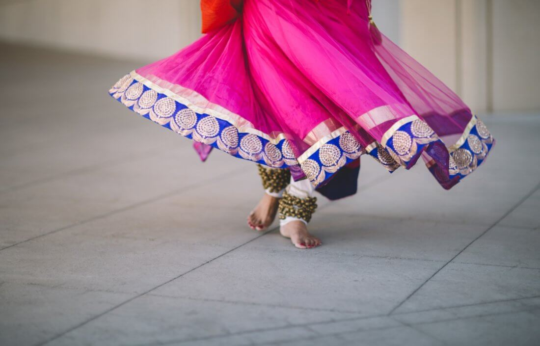 Dancer's skirt and feet