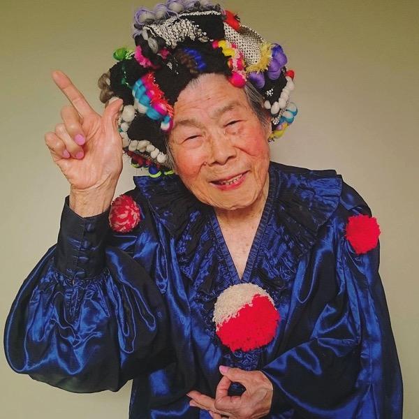 93 year old grandma model instagram saori 1000weave chinami mori 5
