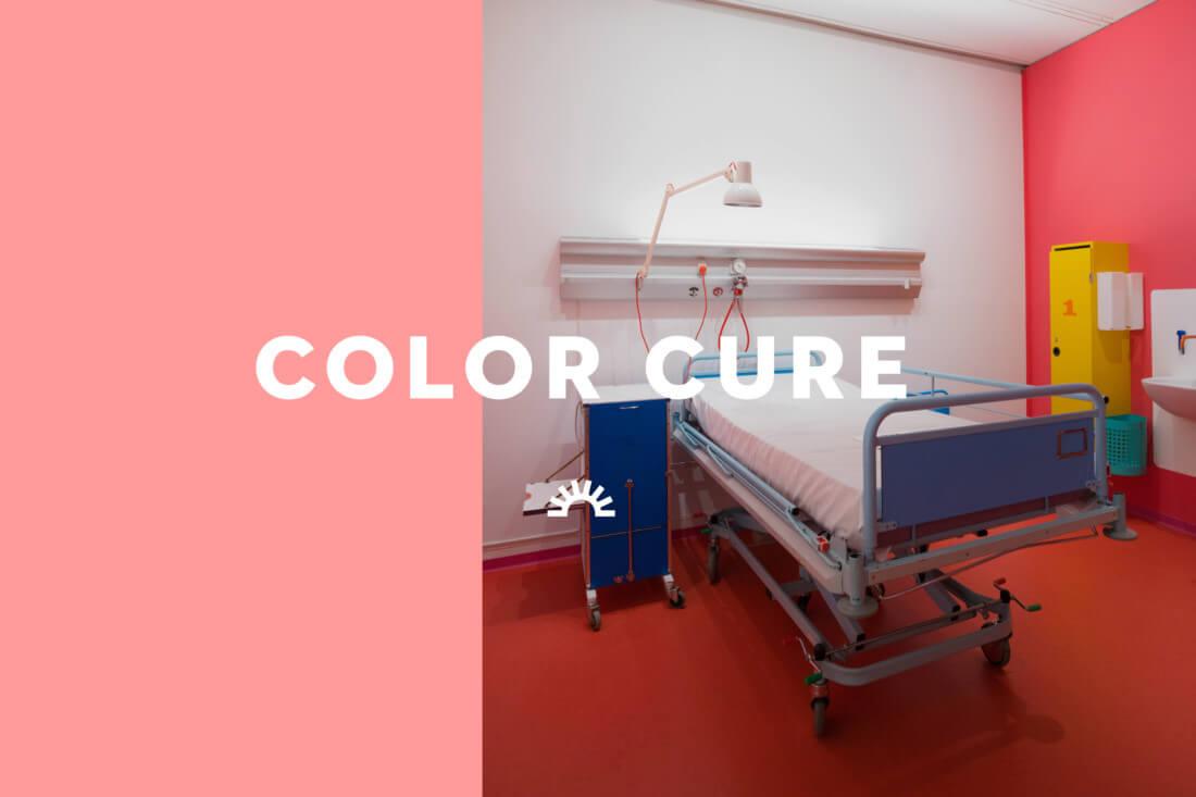 A colorful hospital room designed by Poul Gernes