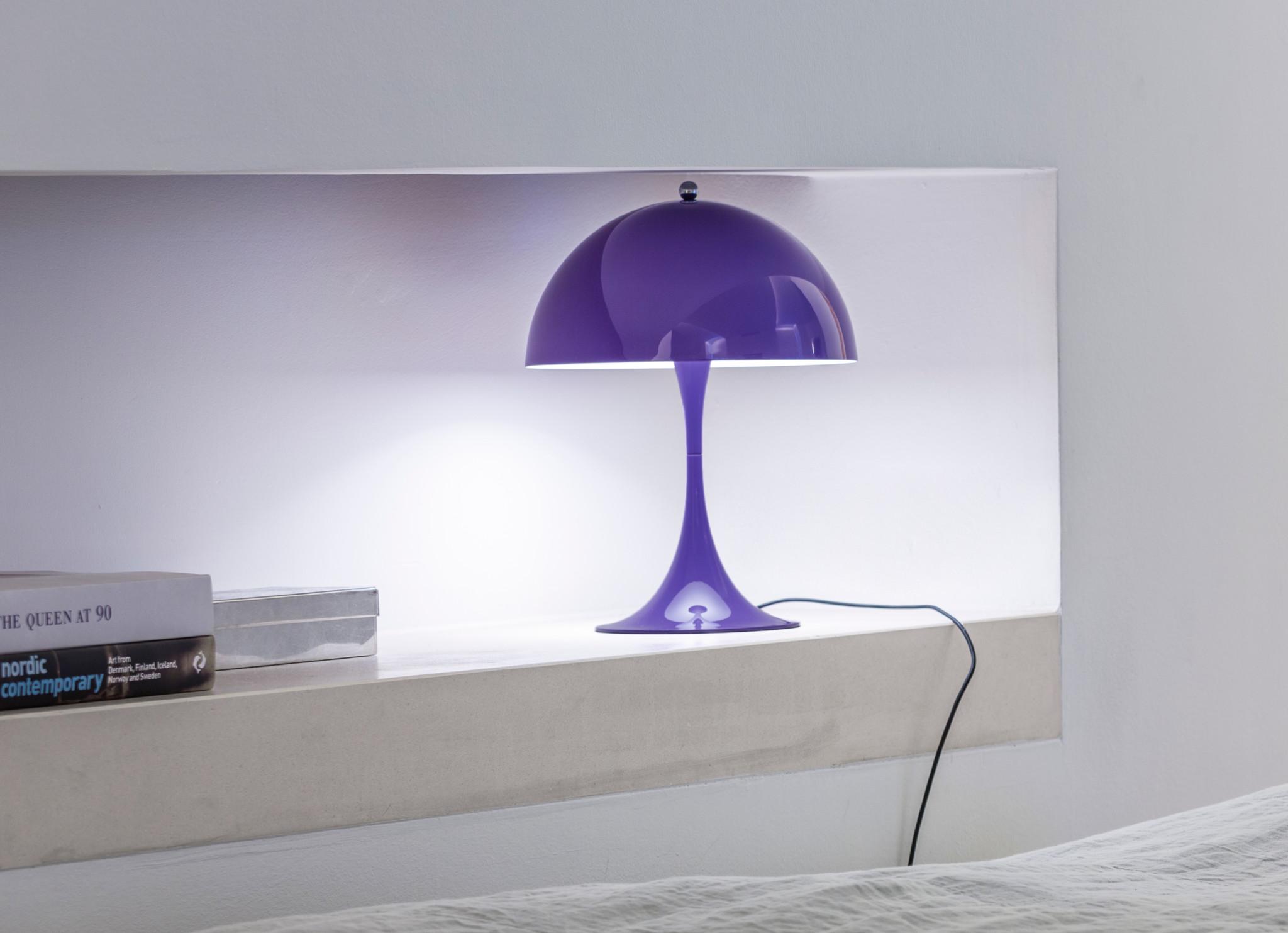 Panthella lamp in purple in context