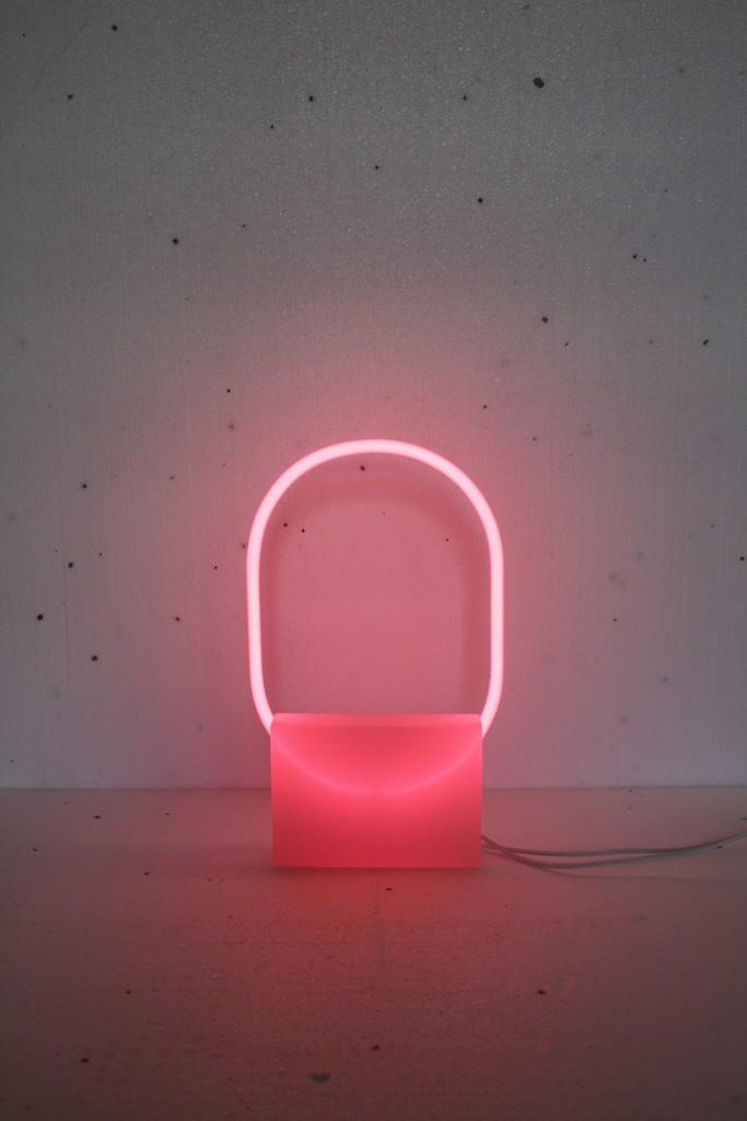 neon light sculpture