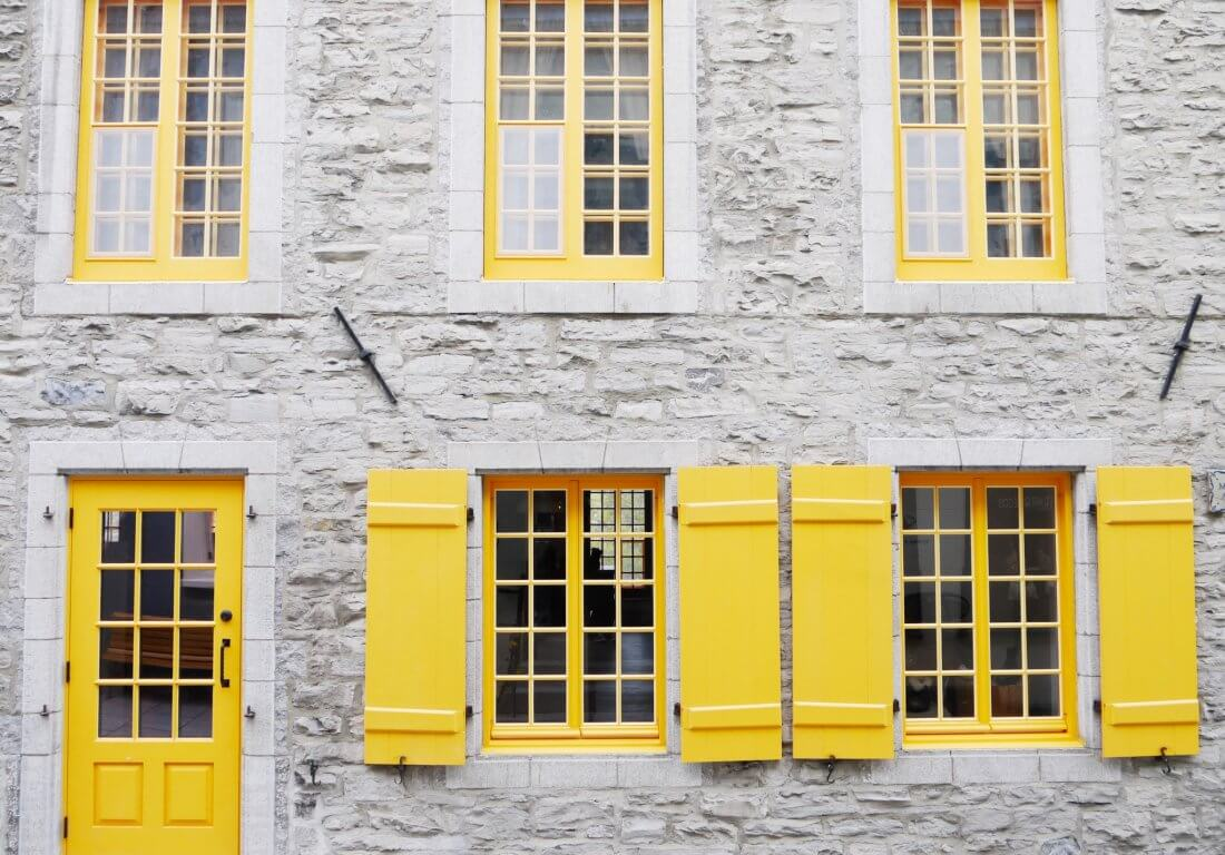 yellow shutters