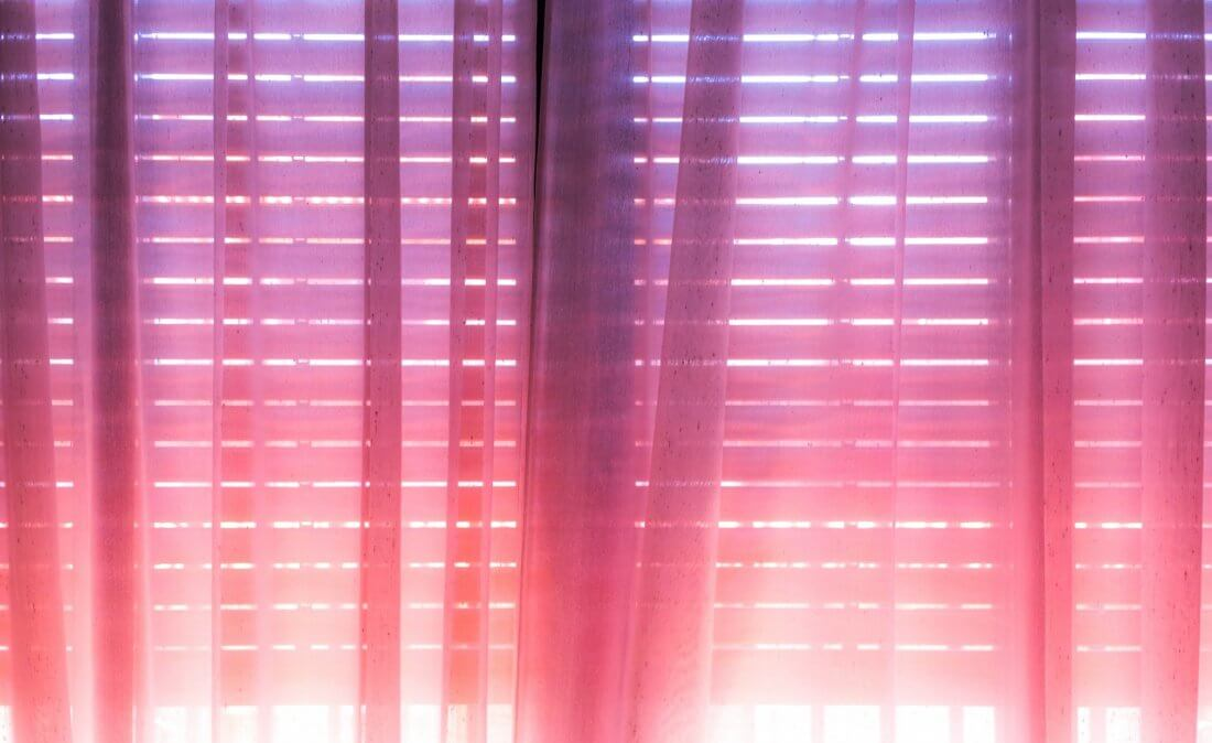 pink blinds
