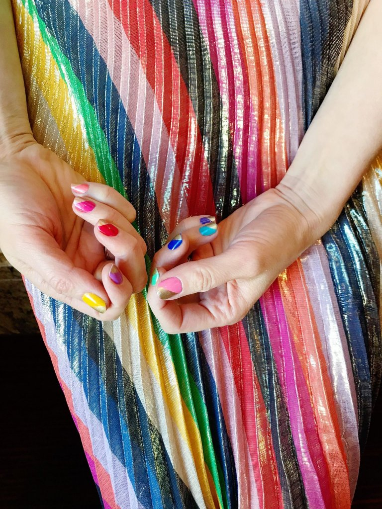 A colorful manicure might seem small or trivial, but can be a surprisingly powerful way to create a small burst of joy in the day to day. Ideas and tips for a joyful manicure from The Aesthetics of Joy.